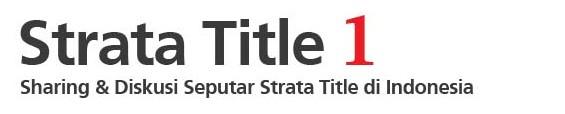 Strata Title 1